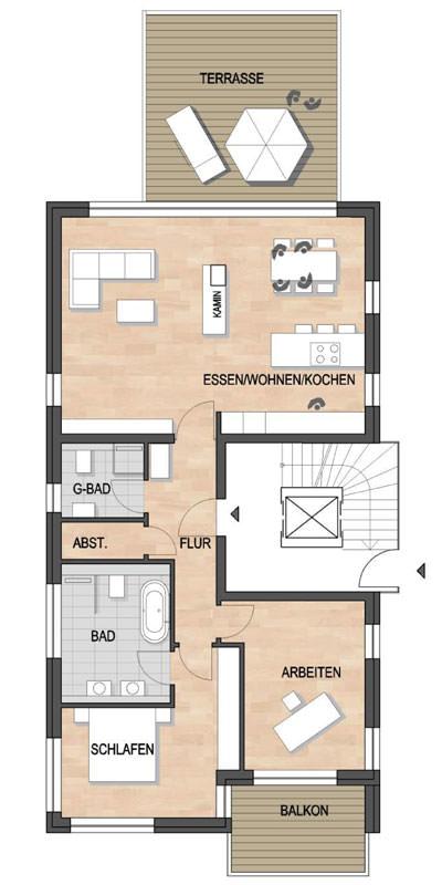 Les Suites – wohin am Rotenbühl Haus 2 Grundriss Erdgeschoss