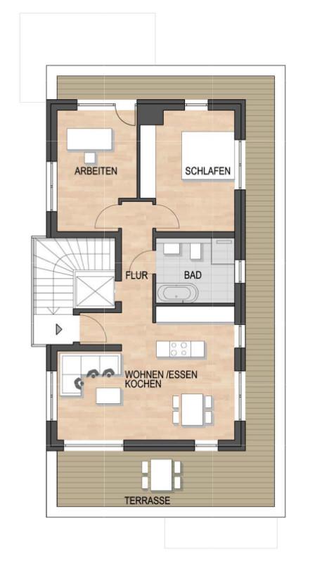 Les Suites – wohin am Rotenbühl Haus 2 Grundriss 2. OG